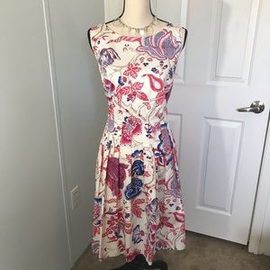 Sold Talbots floral print Fit and flare dress